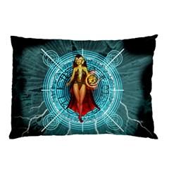 Beautiful Witch With Magical Background Pillow Cases (Two Sides)