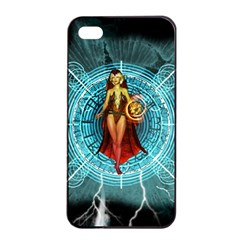 Beautiful Witch With Magical Background Apple Iphone 4/4s Seamless Case (black)