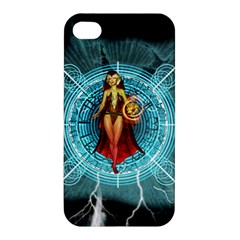 Beautiful Witch With Magical Background Apple iPhone 4/4S Hardshell Case