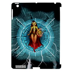 Beautiful Witch With Magical Background Apple iPad 3/4 Hardshell Case (Compatible with Smart Cover)