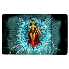 Beautiful Witch With Magical Background Apple iPad 3/4 Flip Case