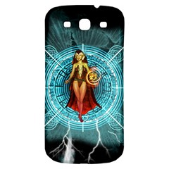 Beautiful Witch With Magical Background Samsung Galaxy S3 S III Classic Hardshell Back Case
