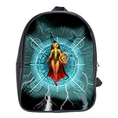 Beautiful Witch With Magical Background School Bags (xl)