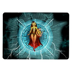 Beautiful Witch With Magical Background Samsung Galaxy Tab 10.1  P7500 Flip Case