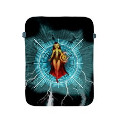 Beautiful Witch With Magical Background Apple iPad 2/3/4 Protective Soft Cases