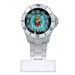 Beautiful Witch With Magical Background Nurses Watches