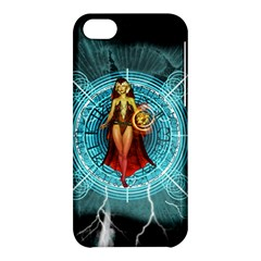 Beautiful Witch With Magical Background Apple iPhone 5C Hardshell Case