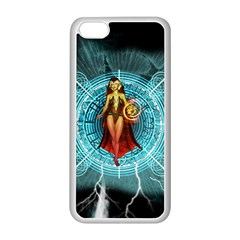 Beautiful Witch With Magical Background Apple iPhone 5C Seamless Case (White)