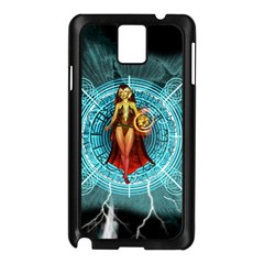 Beautiful Witch With Magical Background Samsung Galaxy Note 3 N9005 Case (Black)