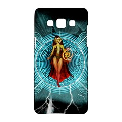 Beautiful Witch With Magical Background Samsung Galaxy A5 Hardshell Case