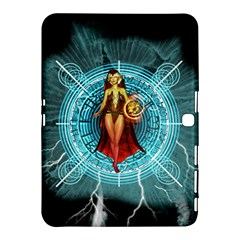 Beautiful Witch With Magical Background Samsung Galaxy Tab 4 (10 1 ) Hardshell Case