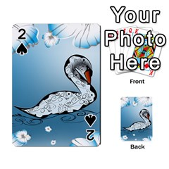 Wonderful Swan Made Of Floral Elements Playing Cards 54 Designs
