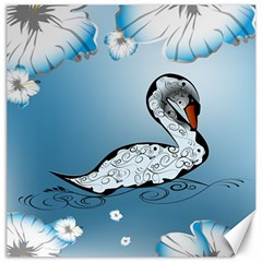 Wonderful Swan Made Of Floral Elements Canvas 20  x 20