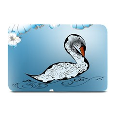 Wonderful Swan Made Of Floral Elements Plate Mats