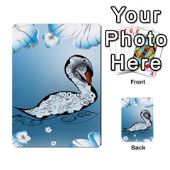 Wonderful Swan Made Of Floral Elements Multi-purpose Cards (Rectangle)