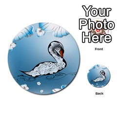 Wonderful Swan Made Of Floral Elements Multi-purpose Cards (Round)