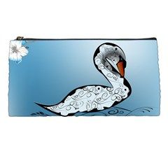 Wonderful Swan Made Of Floral Elements Pencil Cases