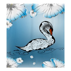 Wonderful Swan Made Of Floral Elements Shower Curtain 66  x 72  (Large)