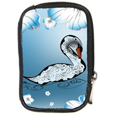 Wonderful Swan Made Of Floral Elements Compact Camera Cases