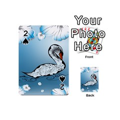 Wonderful Swan Made Of Floral Elements Playing Cards 54 (Mini)