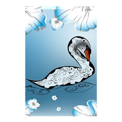 Wonderful Swan Made Of Floral Elements Shower Curtain 48  x 72  (Small)