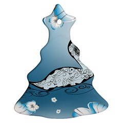 Wonderful Swan Made Of Floral Elements Christmas Tree Ornament (2 Sides)