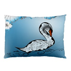 Wonderful Swan Made Of Floral Elements Pillow Cases (Two Sides)