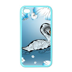 Wonderful Swan Made Of Floral Elements Apple iPhone 4 Case (Color)