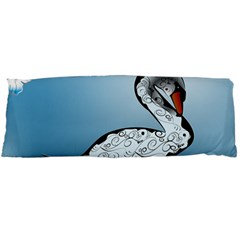 Wonderful Swan Made Of Floral Elements Body Pillow Cases Dakimakura (Two Sides)
