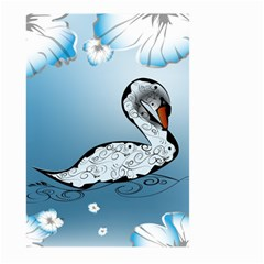 Wonderful Swan Made Of Floral Elements Large Garden Flag (Two Sides)
