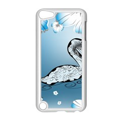 Wonderful Swan Made Of Floral Elements Apple iPod Touch 5 Case (White)