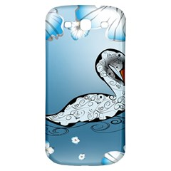 Wonderful Swan Made Of Floral Elements Samsung Galaxy S3 S III Classic Hardshell Back Case