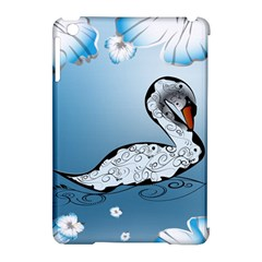 Wonderful Swan Made Of Floral Elements Apple Ipad Mini Hardshell Case (compatible With Smart Cover)