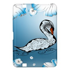 Wonderful Swan Made Of Floral Elements Kindle Fire HD 8.9