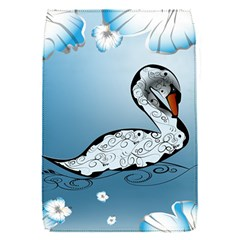 Wonderful Swan Made Of Floral Elements Flap Covers (S)