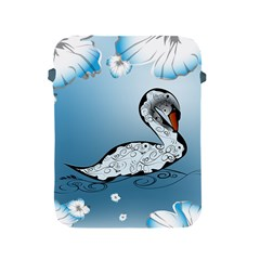 Wonderful Swan Made Of Floral Elements Apple iPad 2/3/4 Protective Soft Cases