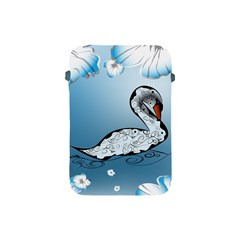 Wonderful Swan Made Of Floral Elements Apple iPad Mini Protective Soft Cases