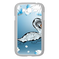 Wonderful Swan Made Of Floral Elements Samsung Galaxy Grand DUOS I9082 Case (White)
