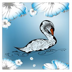 Wonderful Swan Made Of Floral Elements Large Satin Scarf (square)