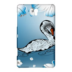 Wonderful Swan Made Of Floral Elements Samsung Galaxy Tab S (8.4 ) Hardshell Case