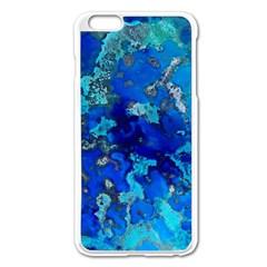 Cocos blue lagoon Apple iPhone 6 Plus/6S Plus Enamel White Case