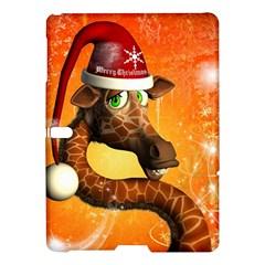 Funny Cute Christmas Giraffe With Christmas Hat Samsung Galaxy Tab S (10 5 ) Hardshell Case