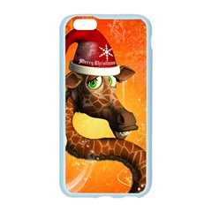 Funny Cute Christmas Giraffe With Christmas Hat Apple Seamless iPhone 6/6S Case (Color)