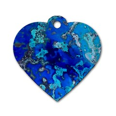 Cocos blue lagoon Dog Tag Heart (One Side)