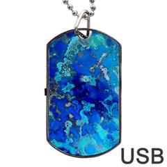 Cocos blue lagoon Dog Tag USB Flash (One Side)