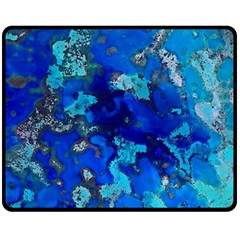 Cocos blue lagoon Double Sided Fleece Blanket (Medium)