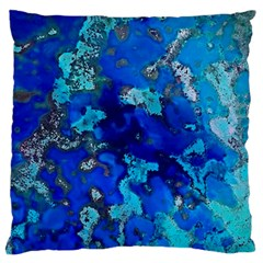 Cocos Blue Lagoon Large Flano Cushion Cases (two Sides)