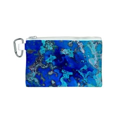 Cocos blue lagoon Canvas Cosmetic Bag (S)