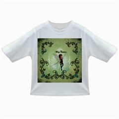 Cute Elf Playing For Christmas Infant/Toddler T-Shirts