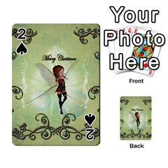 Cute Elf Playing For Christmas Playing Cards 54 Designs